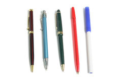 Ballpoint Pens royalty free stock images