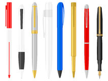 Ballpoint pens set Stock Images