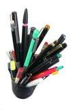 Ballpoint Pens. On White Background stock photography