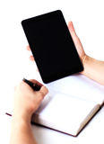 ballpoint ręki pióra writing Obrazy Stock