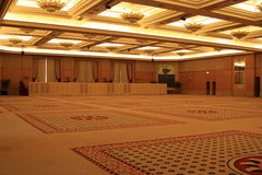 Ballroom. Very Large ballroom for weddings and events, this was taken in Malaysia at the Mandarin Oriental Hotel Stock Photography