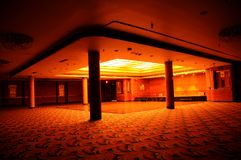 Ballroom. Cross-view of the interior of an empty ballroom Stock Photos
