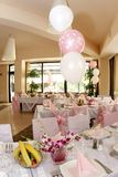 Ballroom. A nice and beautiful wedding room Royalty Free Stock Photos