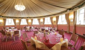 Ballroom. Circular ball room/reception room royalty free stock photos