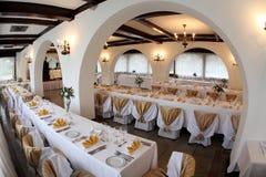 Ballroom. A nice wedding ballroom for weddings Stock Photos