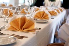 Ballroom. Napkins and tables in a ballroom Royalty Free Stock Photos