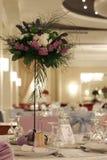 Ballroom. A large ballroom ready for the wedding Royalty Free Stock Image