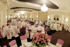 Ballroom. A large wedding ballroom for weddings Royalty Free Stock Images