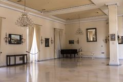 Ballroom at the Achilleion Palace on the island of Corfu Greece built by Empress Elizabeth of Austria Sissi Stock Image