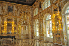 Ballroom Catherine Palace, St. Petersburg. Ballroom in the Catherine Palace, Pushkin near St. Petersburg, Russia Royalty Free Stock Image