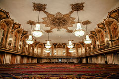 Ballroom of the Conrad Hilton - Chicago. Chicago, Illinois - April 24, 2012: Image of the historic Golden Ballroom in the Conrad Hilton in Chicago, Illinois Stock Images