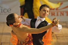 Ballroom Dance #1. Diandra and Dragos, 4th place at the Romanian National Contest (Cupa Romaniei), standard section, 12-13 years old. 25 Oct 2009 Stock Photography