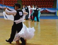 Ballroom Dance chalenge in thailand Stock Photos