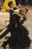 Ballroom Dance Contest Winners. Editorial Image: Rares Soponar and Alexandra Alice Rusznyak, ballroom dancers, 1st place at the National Dance Contest, Cupa Royalty Free Stock Photography
