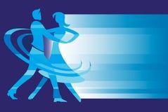 Ballroom Dance Couple background. Stylized drawing of Young couple dancing ballroom dance. Vector available vector illustration