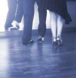 Ballroom dance dancers. Ballroom dance couple of dancers and teachers in studio school dancing in rehearsal royalty free stock image