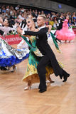 Ballroom dance couple, dancing at the competition Stock Photos