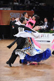 Ballroom dance couple, dancing at the competition Stock Images