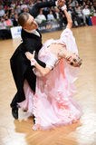 Ballroom dance couple, dancing at the competition Royalty Free Stock Photo