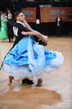 Ballroom dance couple, dancing at the competition Royalty Free Stock Photos