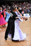 Ballroom dance couple, dancing at the competition Royalty Free Stock Photography