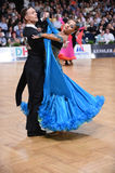 Ballroom dance couple, dancing at the competition Royalty Free Stock Image