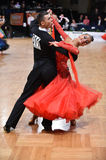 Ballroom dance couple, dancing at the competition Stock Photography