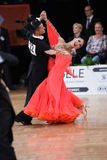 Ballroom dance couple, dancing at the competition Royalty Free Stock Images