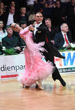 Ballroom dance couple, dancing at the competition Stock Photo