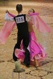Ballroom Dance - Open Standard. Romanian National Contest (Cupa Romaniei), standard section, 12-13 years old. 25 Oct 2009. Winners: Paraschiv Mihai - Toma Stock Photo