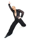Ballroom Dancer latina style. Posing on white background Stock Photography