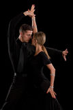 Ballroom Dancer Pair on Black Background Royalty Free Stock Photography