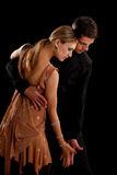 Ballroom Dancer Pair on Black Background Royalty Free Stock Photo