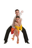 Ballroom Dancer Pair Isolated on White Background Stock Photography
