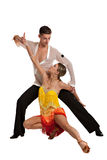 Ballroom Dancer Pair Isolated on White Background Royalty Free Stock Photo