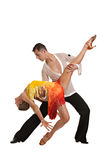 Ballroom Dancer Pair Isolated on White Background Royalty Free Stock Photos