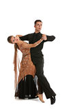 Ballroom Dancer Pair on White Background Royalty Free Stock Image