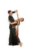 Ballroom Dancer Pair on White Background Stock Photo