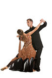 Ballroom Dancer Pair on White Background Stock Photography