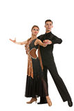 Ballroom Dancer Pair on White Background Royalty Free Stock Photo