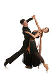 Ballroom Dancer Pair on White Background Royalty Free Stock Photography