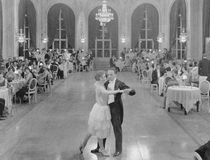 BALLROOM DANCERS. (All persons depicted are no longer living and no estate exists. Supplier grants that there will be no model release issues Stock Photo