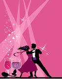 Ballroom Dancers. All elements and textures are individual objects. Vector illustration scale to any size Royalty Free Stock Photos