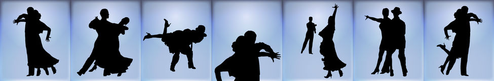 Ballroom Dancers Banner Stock Photography