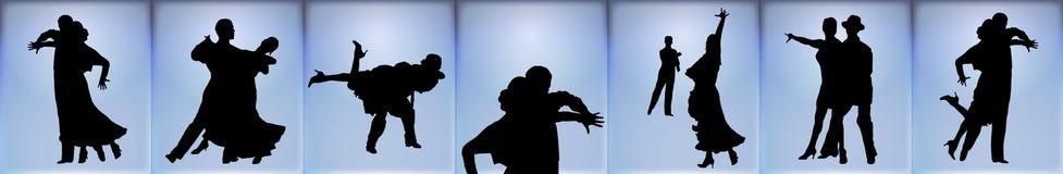 Ballroom Dancers Banner Stock Photography