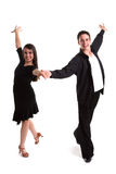 Ballroom Dancers Black 02 Royalty Free Stock Image