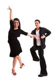 Ballroom Dancers Black 07 Stock Images