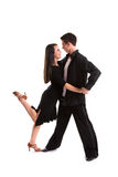 Ballroom Dancers Black 08 Royalty Free Stock Image