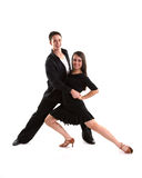 Ballroom Dancers Black 11 Stock Photography