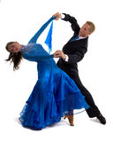Ballroom Dancers Blue 01 Royalty Free Stock Photos